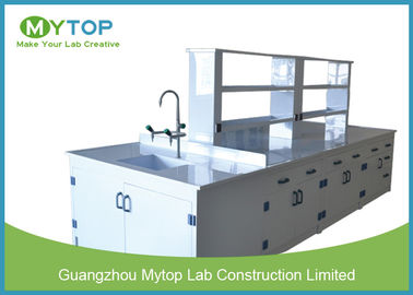 Hospital PP Modern Laboratory Furniture Lab Bench With Sink Acid Resistance