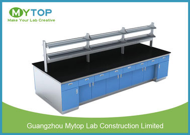 Science Research Modern Laboratory Furniture Lab Island Bench With Full Cabinet