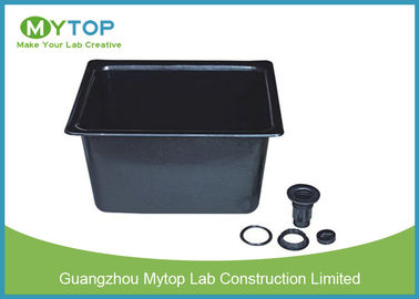Black Color Laboratory PP Sink for Under Bench Installation 7 mm thickness