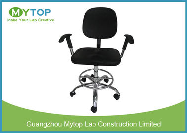 China Clean Room ESD Lab Chairs With Five Star Caster and Armrest Adjustable Height supplier