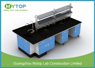 Anti - Bacteria Hospital Lab Furniture Metal Island Table For HIV Laboratory