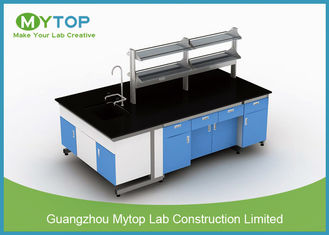 C Frame Medical Lab Furniture / Laboratory Working Table Strong Chemical Resistance