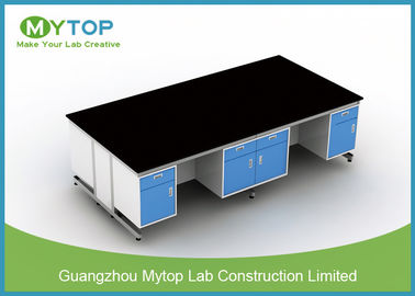 Modern All Steel Dental Lab Bench With Seating Space For Hospital / Clinic