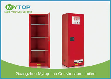 22 Gal Red Grounding Flammable Storage Cabinets For Chemicals Dangerous Goods