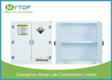 White Hazardous Chemical Storage Cabinet , Hospital Chemical Storage Cupboard