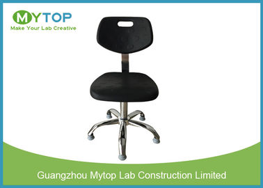 Anti Static Foaming Surface Lab Chairs With Back Support , ESD Safe Lab Chairs