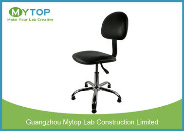 Armless ESD Lab Chairs With Back Rest , Laboratory Anti Static Stool With Wheels