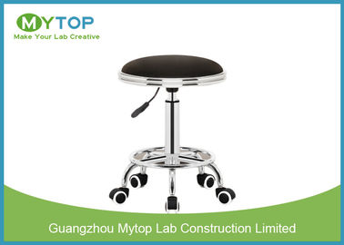 Adjustable ESD Lab Chairs Laboratory Stool Chair with Wheel PU Leather Surface