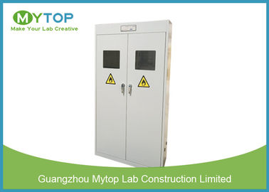 China Safety Fireproof Lab Gas Cylinders Storage Cabinets With Gas Leaking Alarm supplier