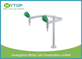 Laboratory Fittings Double Way Brass Water Faucet with Glossy Epoxy Coating