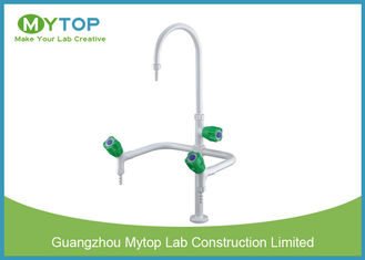 Triple Outlet Brass Lab Sink Faucets Laboratory Fittings For Lab Water Supply