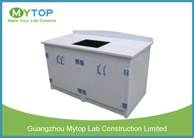 PP Waterproof Hospital Lab Furniture Laboratory Island Bench With Back Splash