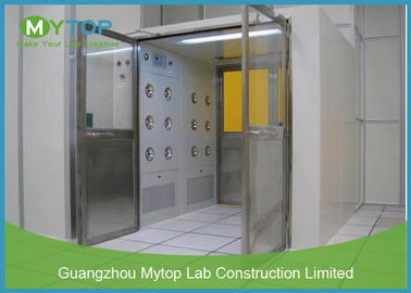 Electric Interlock Cargo Goods Air Shower Tunnel With Double Doors For Cleanroom