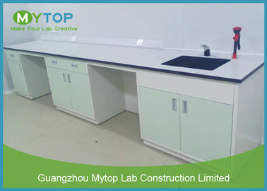 Galvanized Steel Hospital Lab Furniture , Laboratory Benches And Cabinets