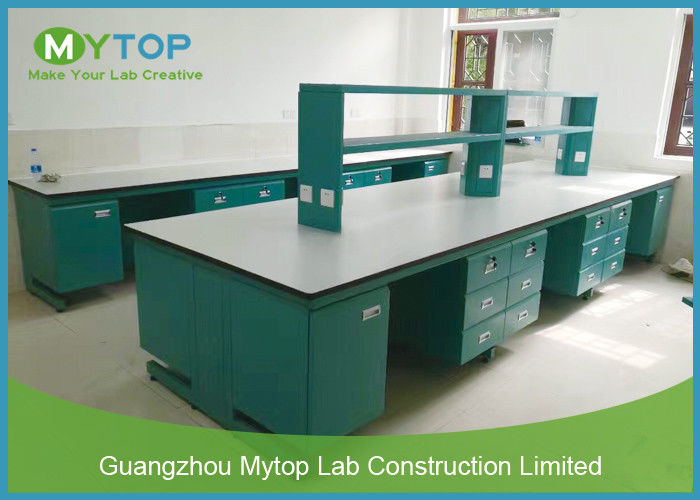Floor Mounted Science Lab Tables Modular Laboratory Furniture For Pharmacy Company