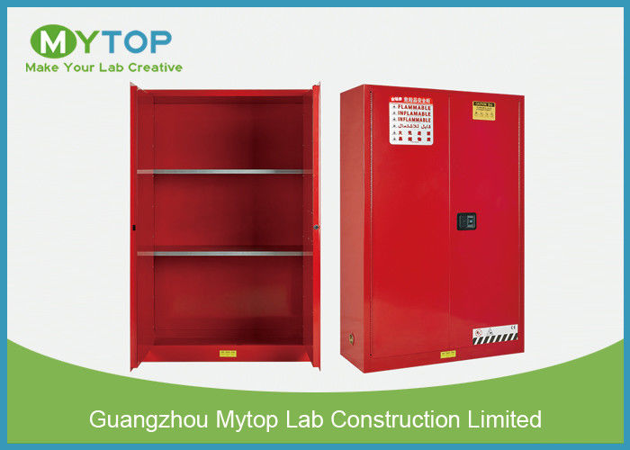 Red Color Flame Proof Storage Cabinets / Chemical Safety Cabinet 4 Gallon