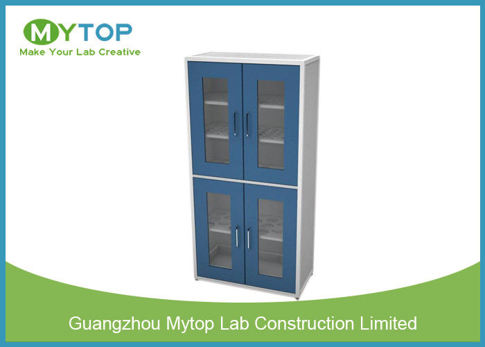 Multi Layer Glassware Laboratory Storage Cabinet With Water Tray Swing Glass  Door