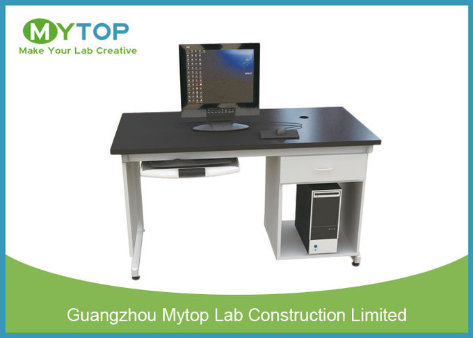 Anti Static University Laboratory Furniture Computer Lab Desk For Single  Student