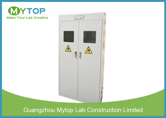 Safety Fireproof Lab Gas Cylinders Storage Cabinets With Gas Leaking Alarm