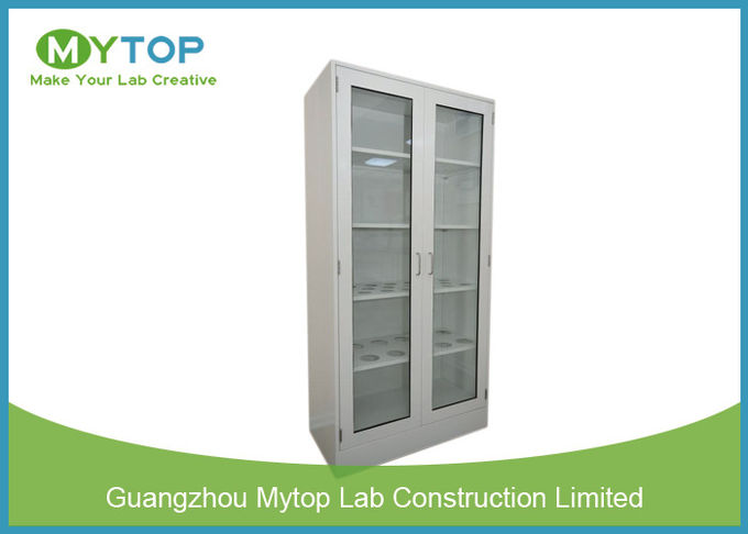 Metal Laboratory Cabinets With Glass Doors , Laboratory Sample Storage Cabinet